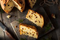 Homemade Christmas Even Panettone Bread Stock Photos