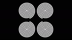 Swirling hypnotic spirals - 51-na - stock footage
