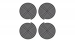 Swirling hypnotic spirals - 52-na - stock footage