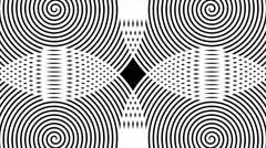 Swirling hypnotic spirals - 53-na Stock Footage