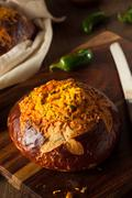 Homemade Jalapeno Cheddar Bread - stock photo