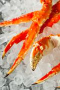 Cooked Organic Alaskan King Crab Legs Stock Photos