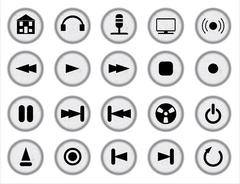 Web Audio Icon Set - stock illustration