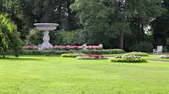 Picturesque landscape park Stock Footage