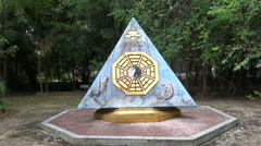 Yin Yang Chinese Shrine - stock footage