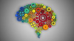 Stock Video Footage of 3D SEAMLESS LOOP Rotating Brain Gears