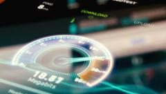 Internet Speed Connection Test Stock Footage
