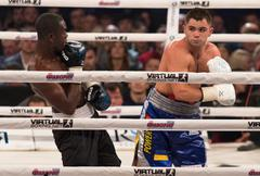"""""""Evening of Boxing"""" in the Palace of Sports in Kyiv Stock Photos"""