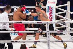 Fight for the WBO Intercontinental Title Oleksandr Usyk vs Pedro Rodriguez - stock photo