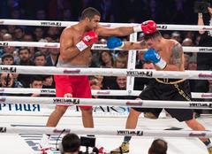 Fight for the WBO Intercontinental Title Oleksandr Usyk vs Pedro Rodriguez Stock Photos