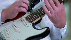 Professional Musician Playing Guitar Stock Footage