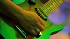 Male Musician Professionally Playing Guitar Stock Footage