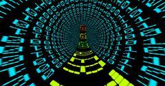 Stock Illustration of Alert text in matrix tunnel