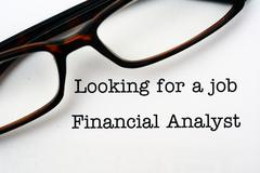 looking for a job financial analyst - stock photo