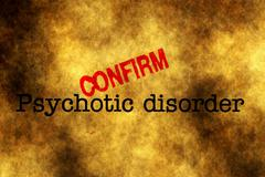Psychotic disorder confirm stamp - stock photo