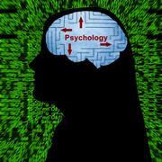 Psychology in mind concept Stock Illustration