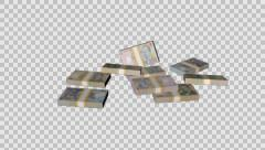 Stacks Of Money Falling Stock Footage