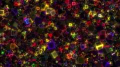 Neon Disco Cubes - stock footage