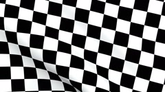 Looping Checkered flag background Stock Footage