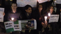 Human rights activists remember children murdered by Taliban. Stock Footage