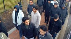 Shia Muslims denounce violence  Stock Footage