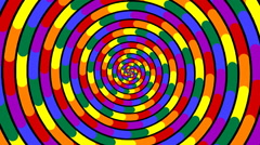 Swirling hypnotic spiral - 85-xpa Stock Footage