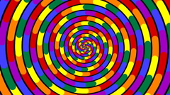 Swirling hypnotic spiral - 85-zna Stock Footage