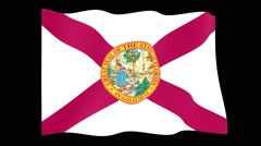 Florida State flag.  Waving PNG. - stock footage