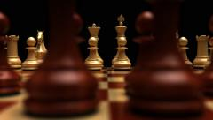 Chess board dolly shot Stock Footage