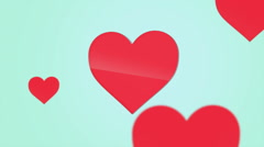 Red Heart floating Stock Footage