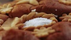 Bread and salt Stock Footage