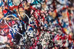 The wall full of messages, Verona, Italy. - stock photo
