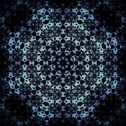 Seamless octagon pattern blue black Stock Illustration