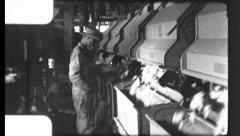 Factory Cotton GIN Harvest Industry Men Work 1930s Vintage Film Home Movie 8826 Stock Footage