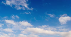 Blue Sky, Beatiful White Clouds 5K Backlot Stock Footage