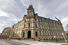 Building of Quebec Ministry of Finance - Quebec City, Canada - stock photo