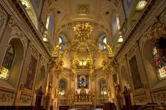 Basilique Notre-Dame-de-Quebec - stock photo