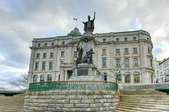 Francois de Laval Monument - Quebec City - stock photo
