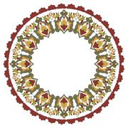 Antique ottoman turkish pattern vector design twenty five - stock illustration