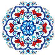 Stock Illustration of Antique ottoman turkish pattern vector design three