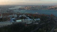 Topkapi Palace, Istanbul Silhouette Stock Footage