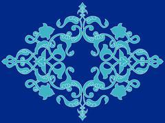 Antique ottoman turkish pattern vector design twenty three - stock illustration