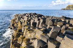 Giants Causeway in Northern Ireland - stock photo