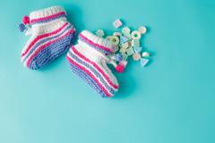 Newborn announcement concept - stock photo
