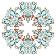 Stock Illustration of Antique ottoman turkish pattern vector design twenty two