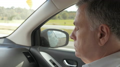View of the passenger riding in a car Stock Footage