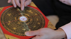 Feng shui compass - stock footage