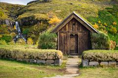 Traditional viking house - stock photo