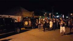 Halloween in the street of San Juan del Sur Stock Footage