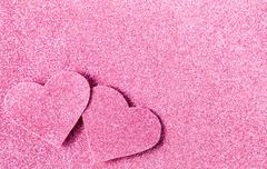 Pink glitter shiny abstract valentine's day background - stock photo